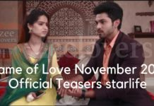 Game of Love November 2019 Official Teasers starlife