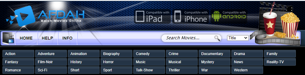 Afdah Movies Sections/Categories